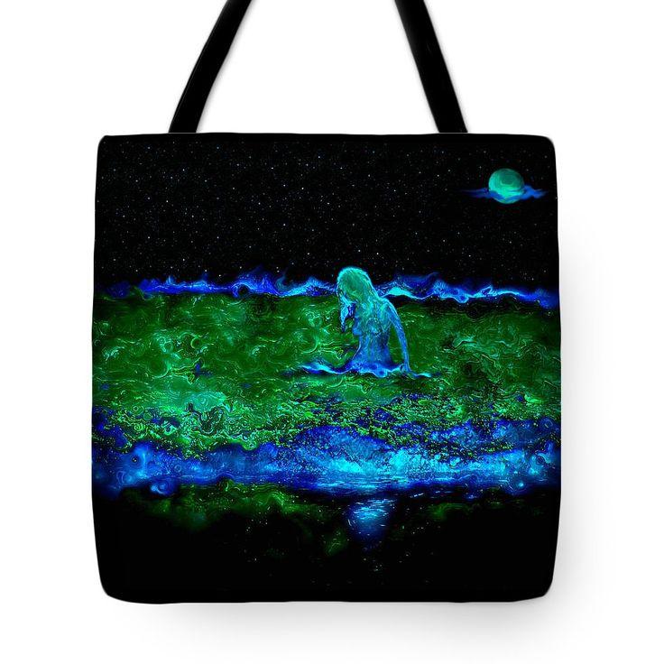 Mermaid Dreams Tote Bag featuring the digital art Mermaid Dreams by Micki Findlay