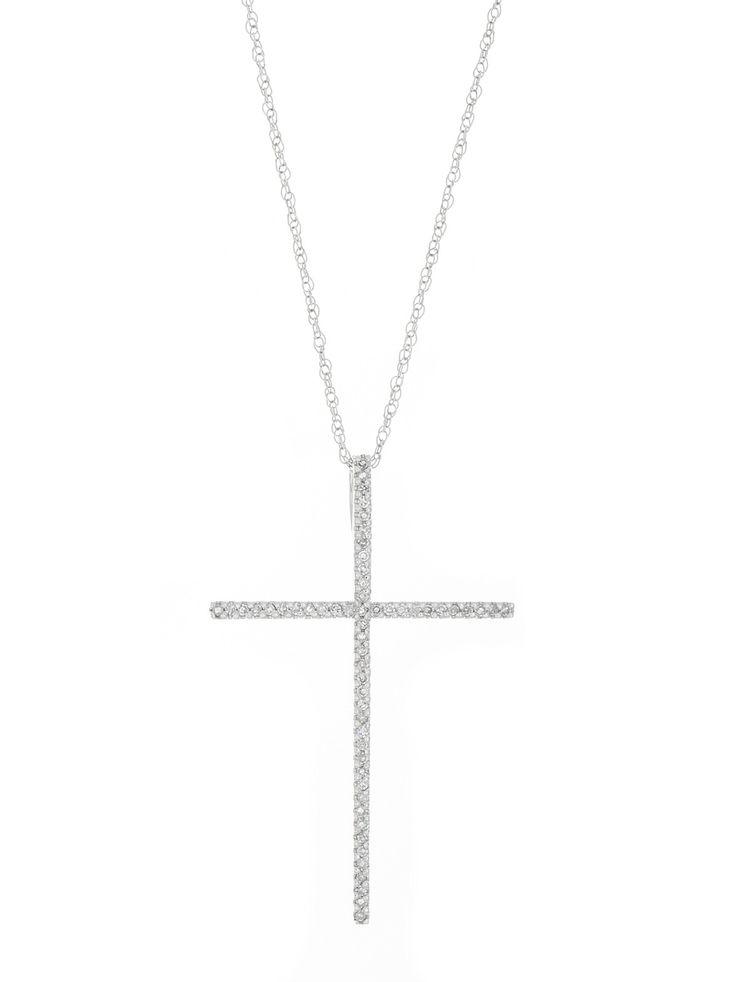 London Collection Diamond Cross Pendant Necklace
