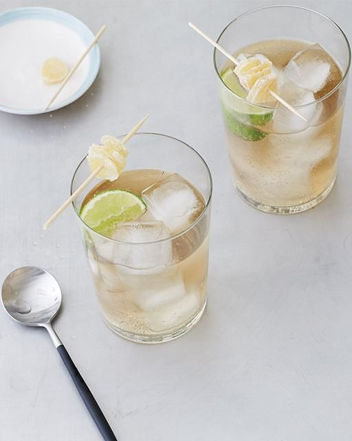 Gin & Ginger - Gin, Domaine de Canton Ginger Liqueur, Ginger Ale, Lime Juice.