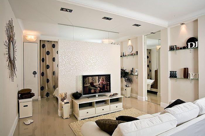 Разделение комнаты на спальню и гостиную - 84 фото, идеи, гипсокартоном, шторами, шкафом купе