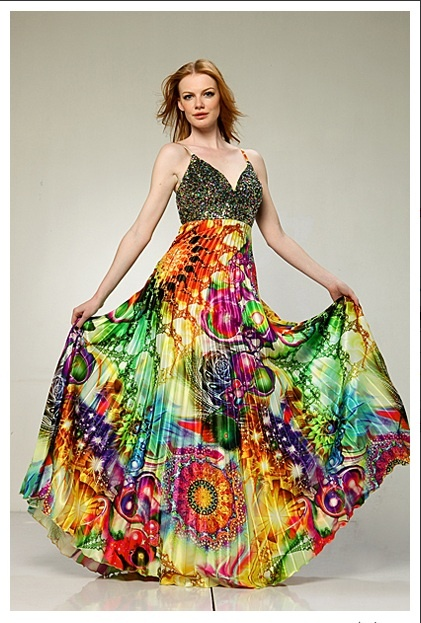 Psychedelic gown!