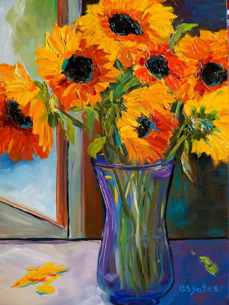 29 best art images on pinterest watercolour painting water colors bsyates art a sometimes daily painting journal sunflowers in window contemporary fine art painting mightylinksfo