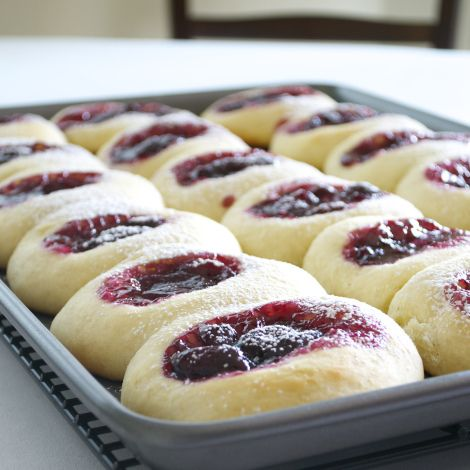 Fresh Cherry Kolaches- Tried it and loved it. I think I would half the recipe next time though - it made more than I need for a batch.