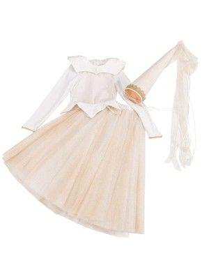 Eine wahre Prinzessin trägt natürlich ein feines Kleid mit Satinkragen, einen üppigen Tüllrock, einen dekorierten Hut. 138-012016-B, burda style, Prinzessin, Nähen