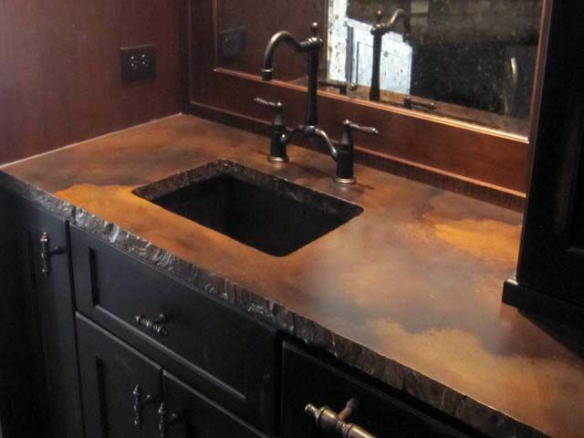 Do It Yourself Home Decorating Ideas: Stained Concrete Countertop Indecorativeconcrete.com