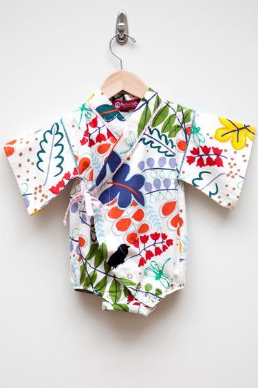 Il body kimono per neonati by RedFish Kids