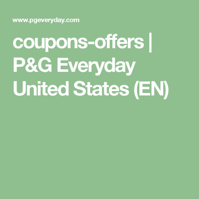 coupons-offers | P&G Everyday United States (EN)