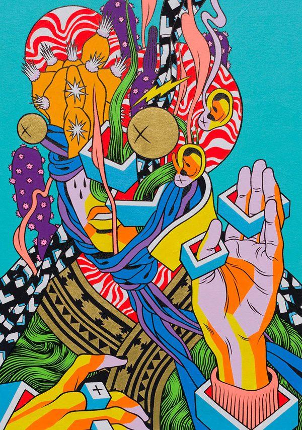 -Le collectif brésilien 'Bicicleta Sem Freio' composé de trois illustrateurs *Douglas, Victor et Renato*-
