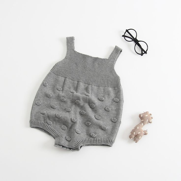 AIMEIXIUYI Baby Rompers Jumpsuit 2017 Autumn Toddler Infant Boys Girls Knitted Sweater Overalls Grey Climbing Clothes. Click visit to buy