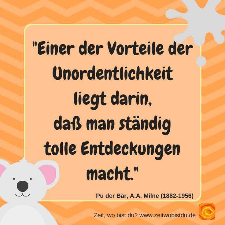 Pu Der Bär (Winnie The Pu) über Ordnung Kluge Sprüche Von