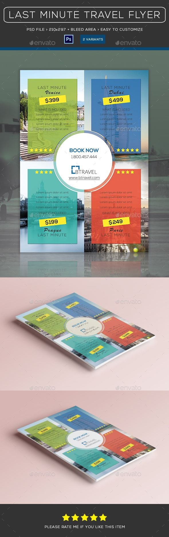 Travel | Last Minute | Flyer vol01