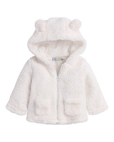 4c2bcca1be32 Kidsform Baby Girls Boys Fleece Hoodie Jacket Coat Cloak Winter Warm ...