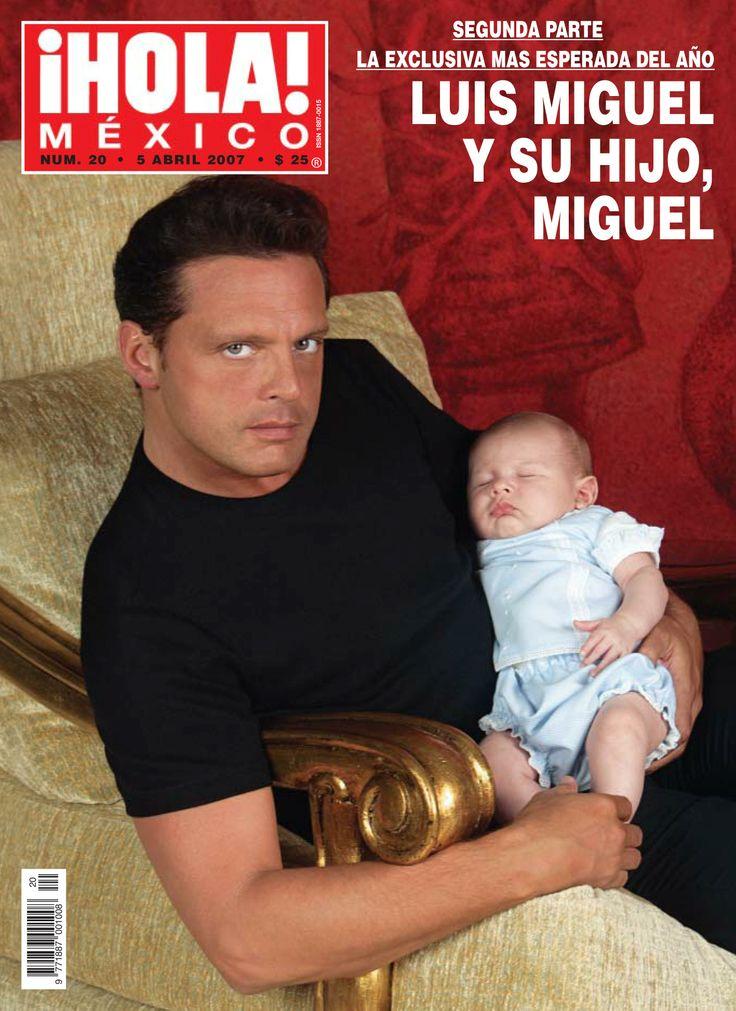 En el #tbt de hoy recordamos la entrañable portada de Luis Miguel al lado su hijo Miguel, en abril de 2007