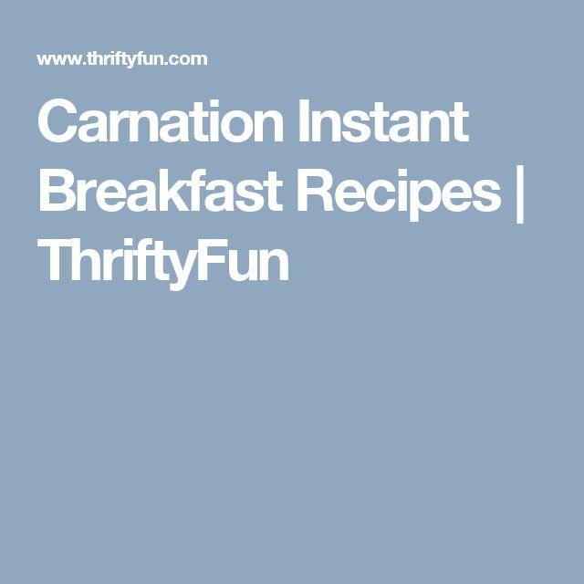 Carnation Instant Breakfast Recipes | ThriftyFun