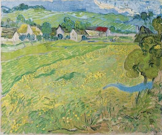 Les Vessenots en Auvers de Vincent Van Gogh en el Museo Thyssen-Bornemisza en Madrid.