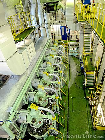 Engine inside a ship by Leon Viti, via Dreamstime