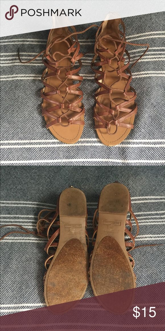 Gladiator Sandals • CLEARANCE Tan gladiator sandals from BCBGeneration. Size 9.5.  CLEARANCE PRICE IS FIRM. BUNDLE FOR FURTHER DISCOUNT. BCBGeneration Shoes Sandals