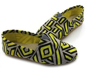 Toms latest Summer Candy Yellow stripes