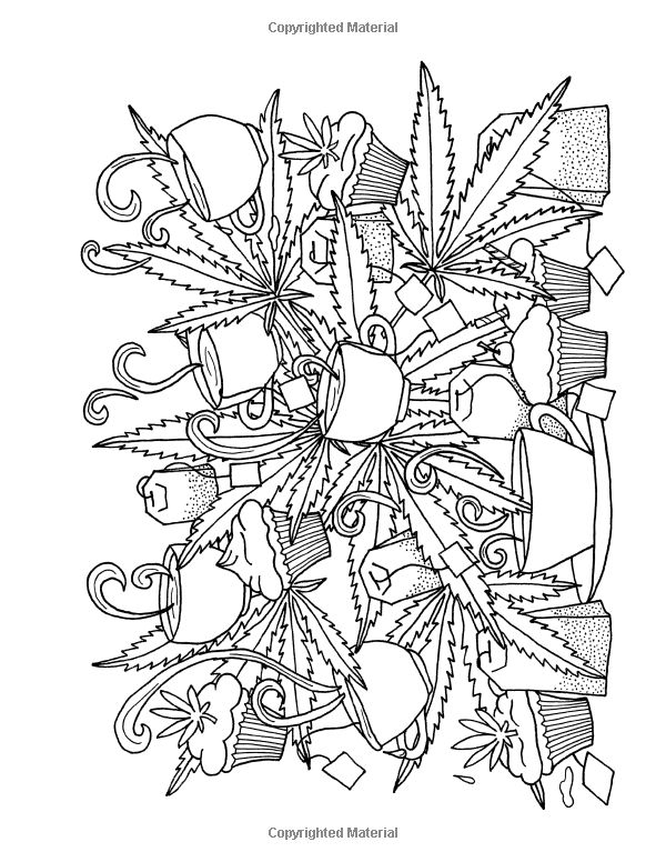 It's just a graphic of Hilaire Cannabis Coloring Pages