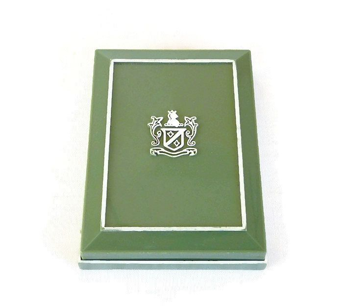 Acrylic Trinket Boxes : Alsten green celluloid jewelry box plastic