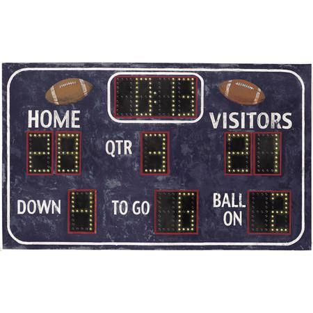 Add a touch of sporty style to your little athlete's room with this football scoreboard wall decal.