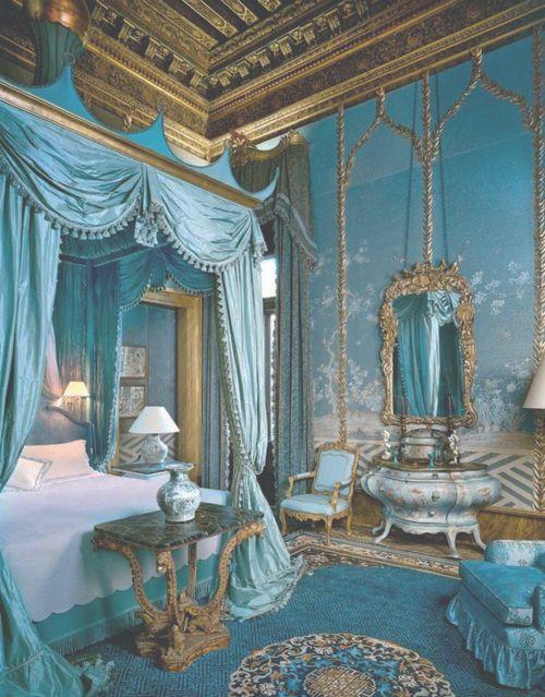 ultra feminine bedroom- this looks like Lady Catherine's bedroom.