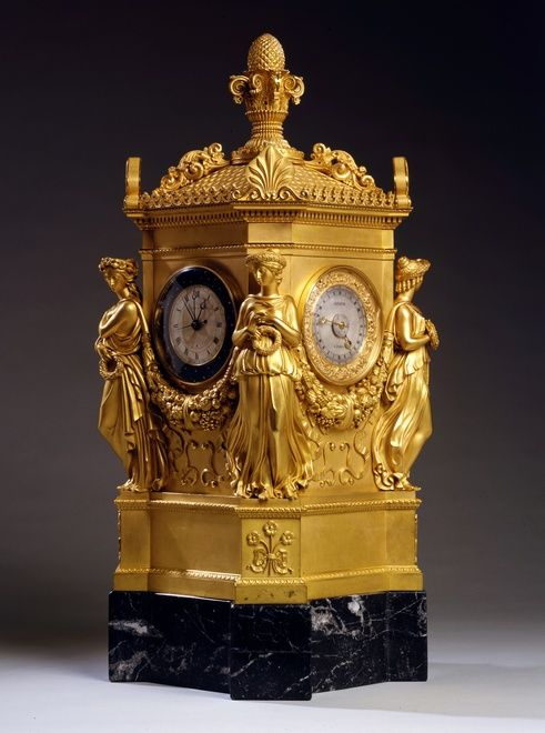 An Empire astronomical clock by Jean Joseph Lepaute 1808