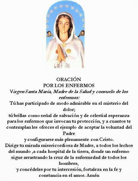 Virgen Rosa Mística, oración por los enfermos.