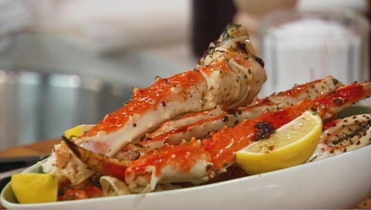 Pattes de crabe royal au beurre à l'ail