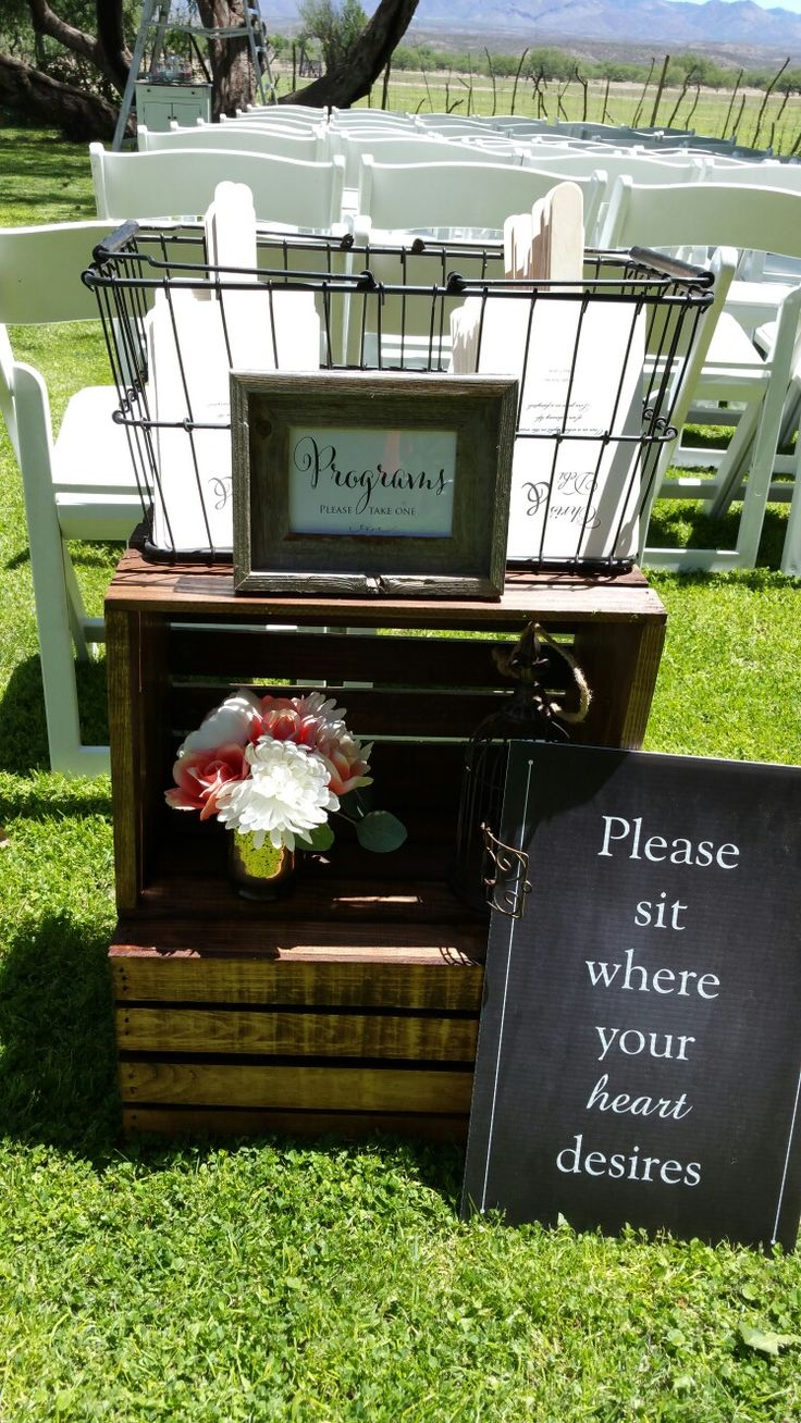 Signs & Programs by: The Bride Setup by: Love is Love Events