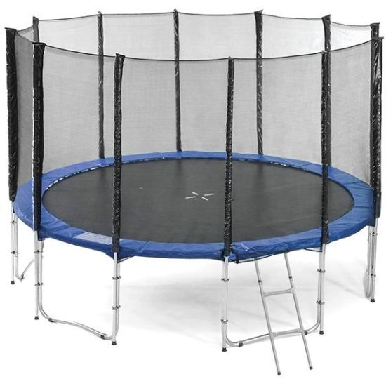 Outdoor Trampoline with Safety Net in Blue 16ft   Buy 16ft Trampoline