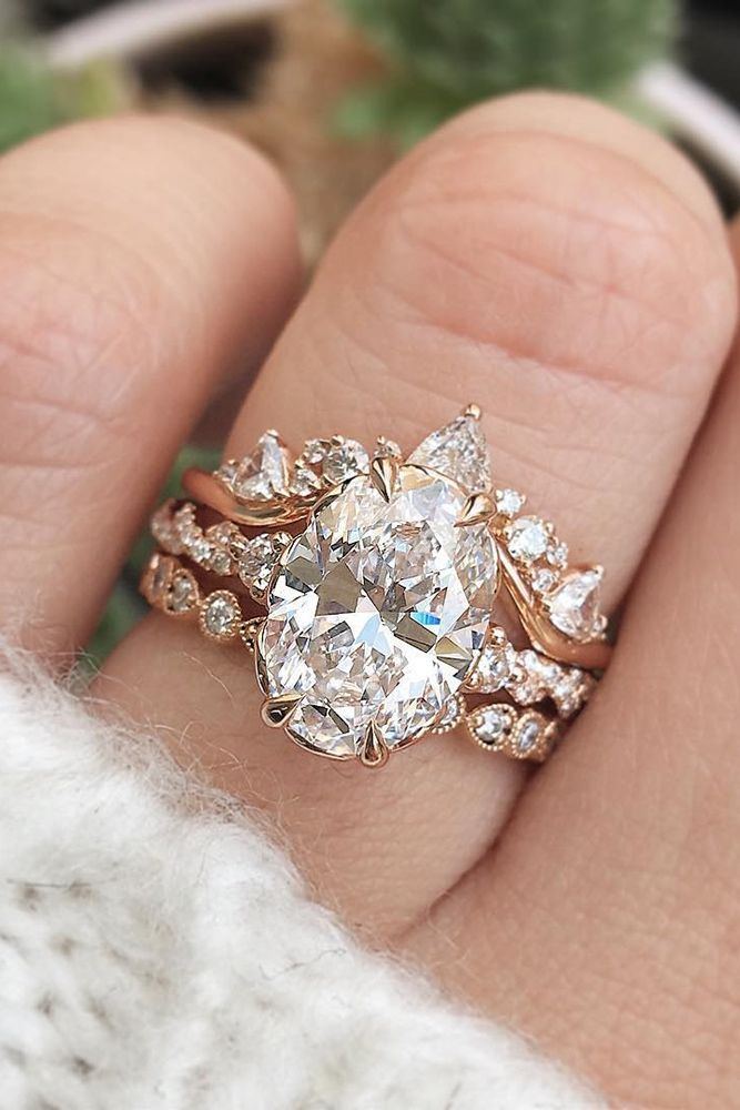 24 Unique Wedding Rings For Somebody Special ❤️ unique wedding rings oval se…