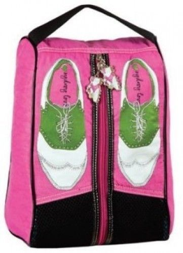 SYDNEY LOVE PINK NYLON GOLF SHOE BAG NEW WITH TAGS #SYDNEYLOVE