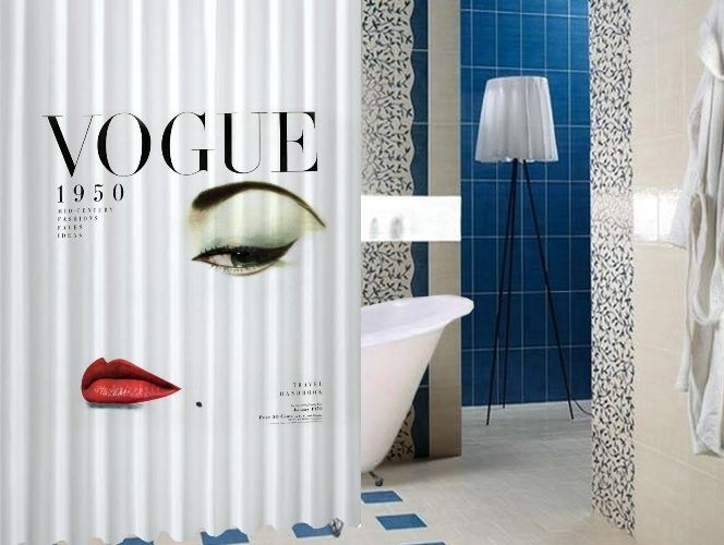 """Vogue 1950 Magazine Vintage Style High Quality Custom Shower Curtain 60"""" x 72"""" #Unbranded #Modern #BestQuality #Cheap #Rare #New #Latest #Best #Seller #BestSelling #Cover #Accessories #Protector #Hot #BestSeller #2017 #Trending #Luxe #Fashion #Love #ShowerCurtain #Luxury #LimitedEdition #Bathroom #Cute #ShowerCurtain #CurtainGift"""