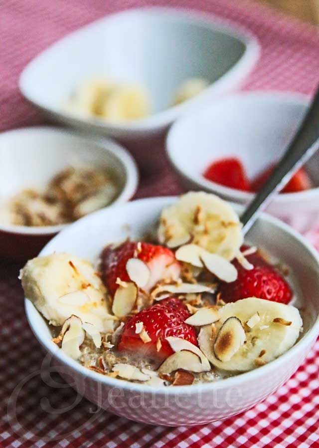 Breakfast Coconut Milk Quinoa with Fresh Fruit Recipe from  | Jeanette's Healthy Living