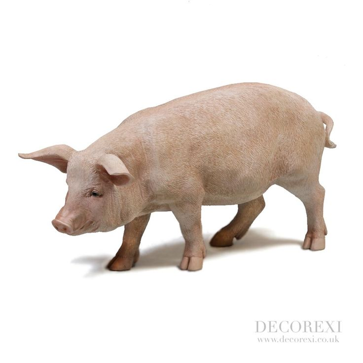 Large Standing Pig Figure