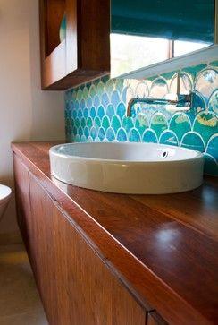 Camilla Molders Design eclectic bathroom Mermaid tile--Miette's Airstream