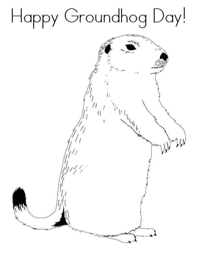 Groundhog Day Coloring Pages Groundhog Day Happy Groundhog Day