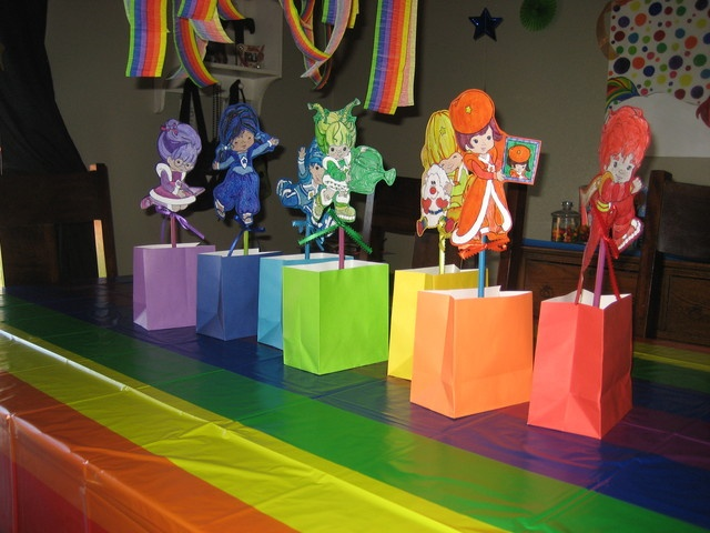 Favors from a Rainbow Brite Party #rainbowbrite #partyfavors