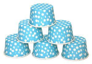 Paperiset Karkkikipot Light Blue 20kpl ISOMPI KOKO | Something Old