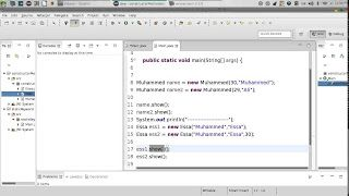 95 Java constructor Method difference الفرق بين الدوال والدوال الخاصة http://ift.tt/2BHKyPV تعلم لغة جافا دورة جافا للمبتدئين كورس Java محمد عيسى