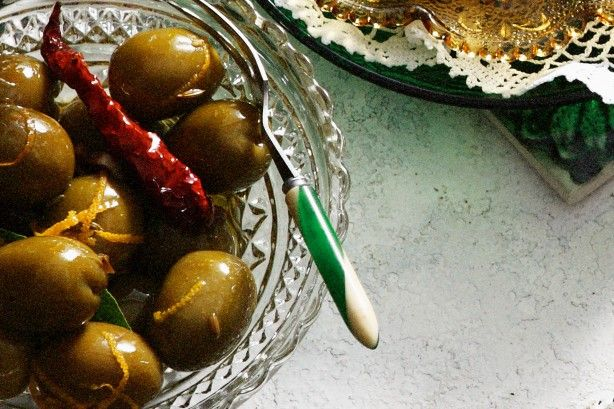 Marinated Spanish Olives  Enjoy the bold flavours of Spanish fare in this home-style dish.