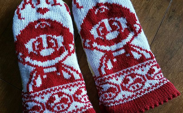 Ravelry: Itsa' Mario Mittens! by Jolean Laming