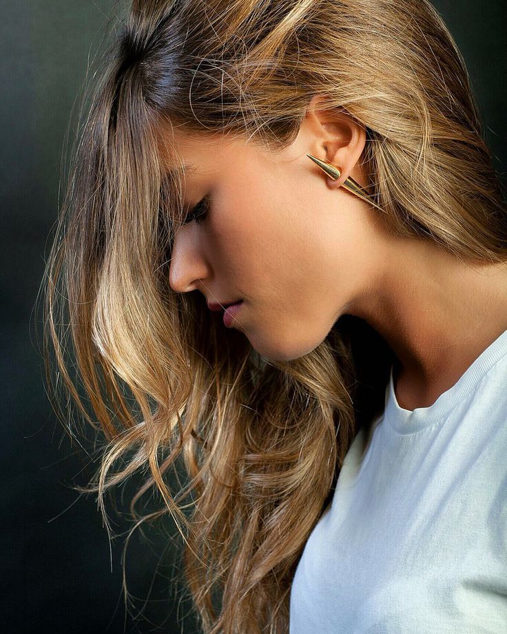 Gold #mirimal earring