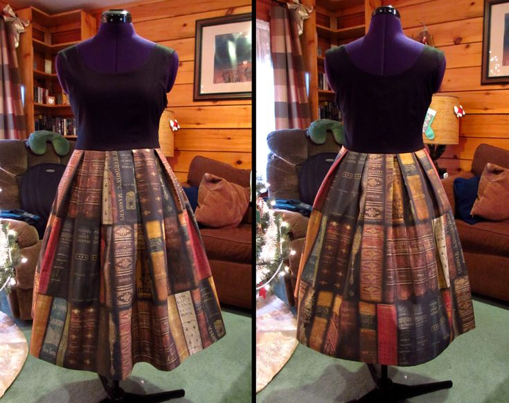 "Amazing Skirt made with Monsiuer Fancypantaloons design called ""Ex Libris Jumperskirt"" by okami-san.deviantart.com"