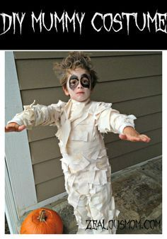 DIY mummy costume that anyone can make. Have so much fun making this homemade Halloween costume. Great for kids of all ages.