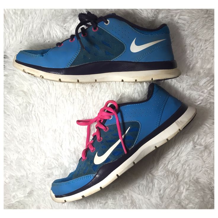 Nike Shoes | Nike Trainers | Blue & Pink 2013 Running Shoes Euc | Color: Blue/Pink | Size: 7.5