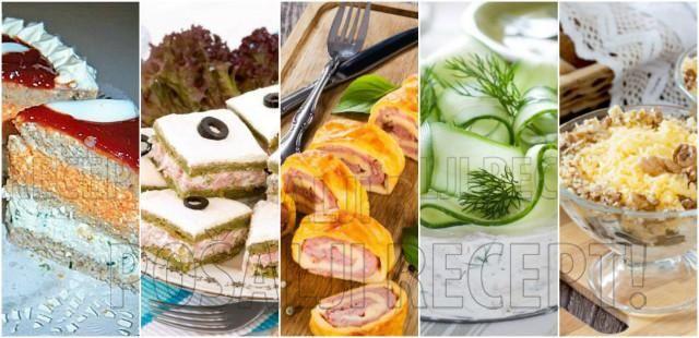 Slani rolati, salate, zalogaji