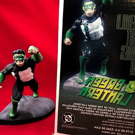 Here we have a nice DC Direct Green Lantern Kyle Rayner Paquet Large Size Statue + Box 1246/2200! The statue is in excellent shape with some general wear. Find great deals on comics-figurines.us for dc direct green lantern statue  blackest night. DC DIRECT GREEN LANTERN FULL SIZE STATUE KYLE RAYNER w/BOX By. #hero #comics #DCComics #DC #Marvel #figurines #Collectibles #gifts #collect