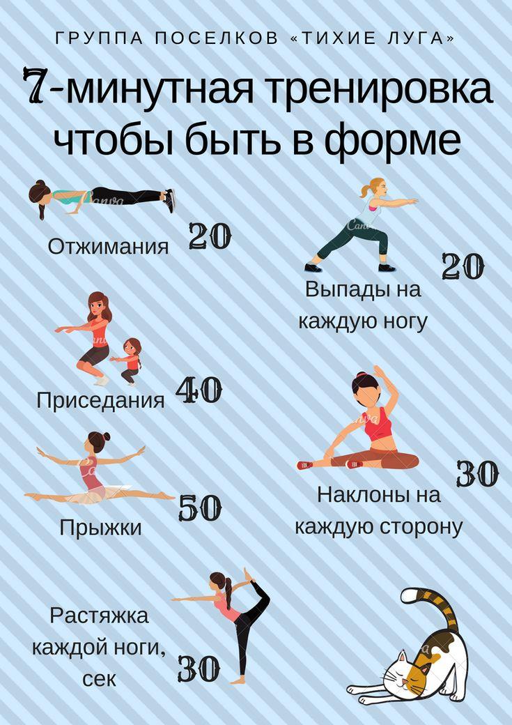 Мини Тренировки Для Похудения. Похудеть за месяц. Программа тренировок и план питания